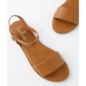 Lulus | 'Hearts And Hashtags' Tan Flat Sandals